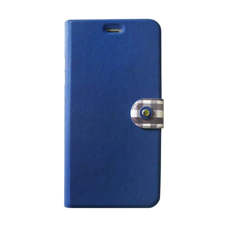 Kalo Classical Biru Flip Cover Casing for iPhone 6 Plus