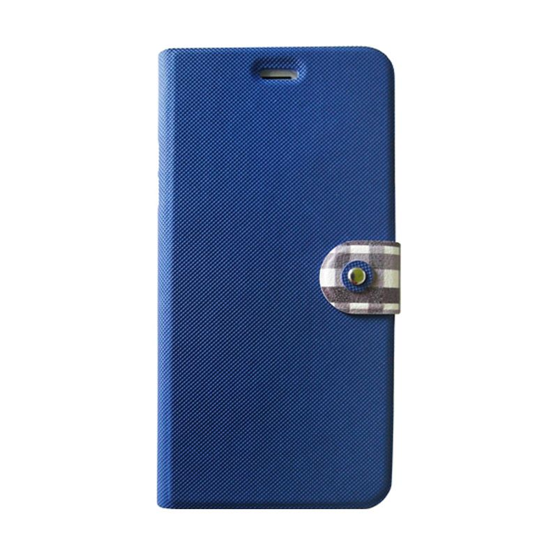 Kalo Classical Biru Flip Cover Casing for iPhone 6