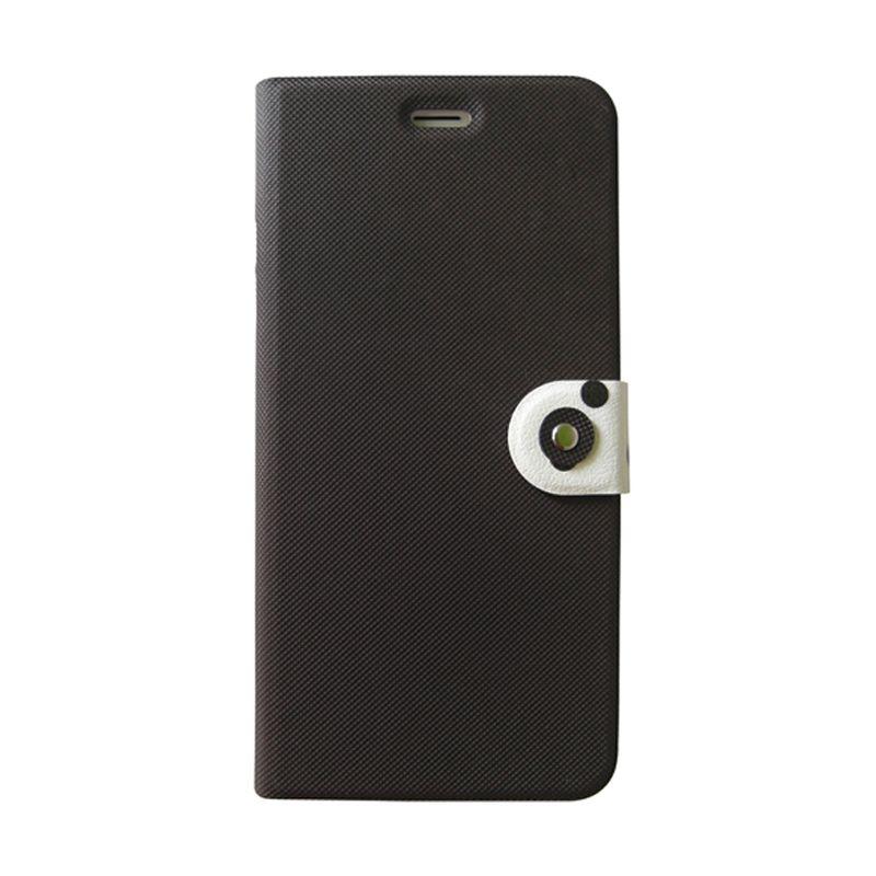 Kalo Classical Hitam Putih Flip Cover Casing for iPhone 6