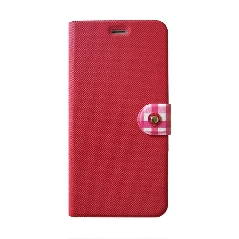 Kalo Classical Merah Flip Cover Casing for iPhone 6 Plus