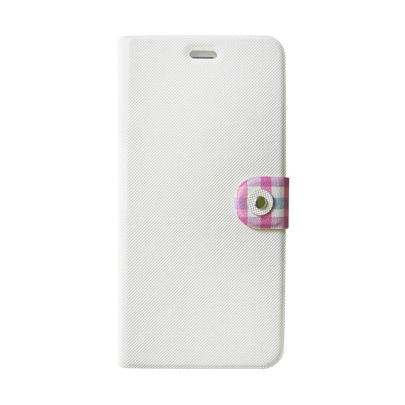 Kalo Classical Putih Flip Cover Casing for iPhone 6