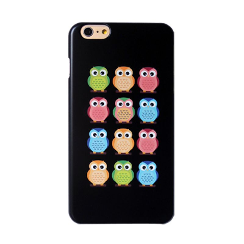 Kalo Colored Drawing Owl Colorful Casing for iPhone 6 Plus