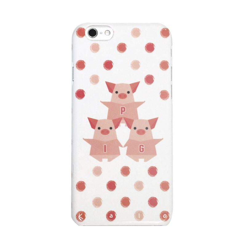 Kalo Colored Drawing Pig Colorful Casing for iPhone 6