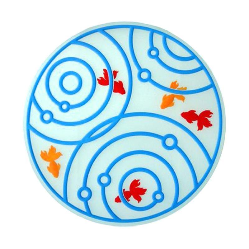 Kalo Creative Design Coaster Goldfish Shape Biru Tatakan Gelas