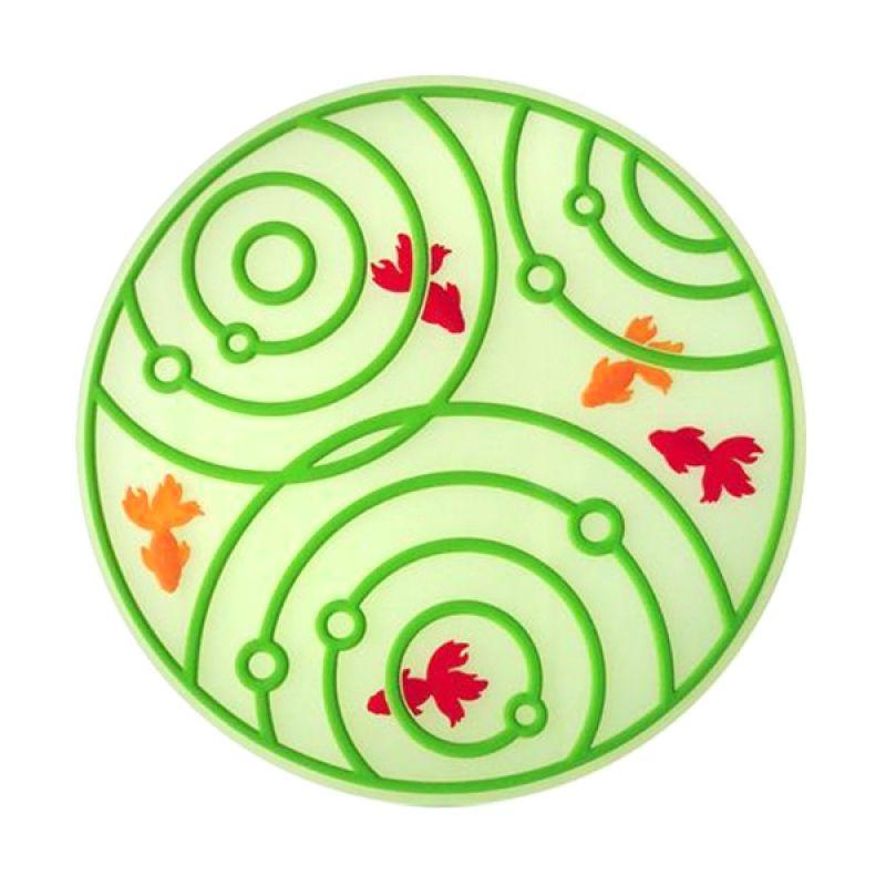Kalo Creative Design Coaster Goldfish Shape Hijau Tatakan Gelas
