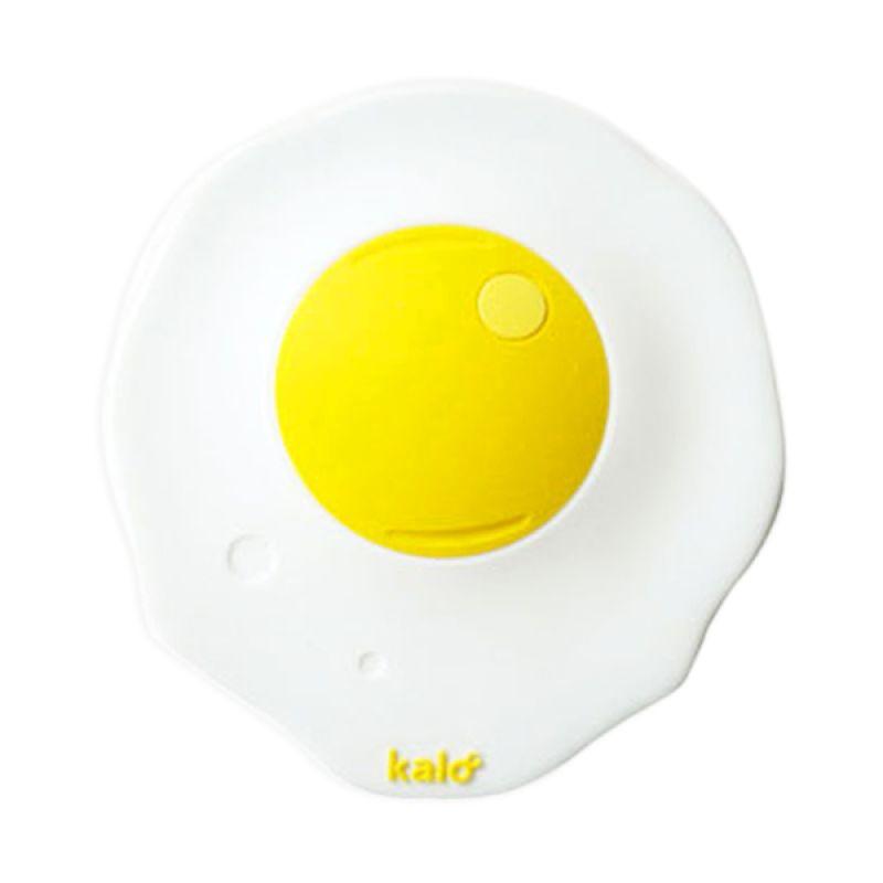 Kalo Creative Design Silicone Egg Shape Cup Lid Putih Tutup Gelas