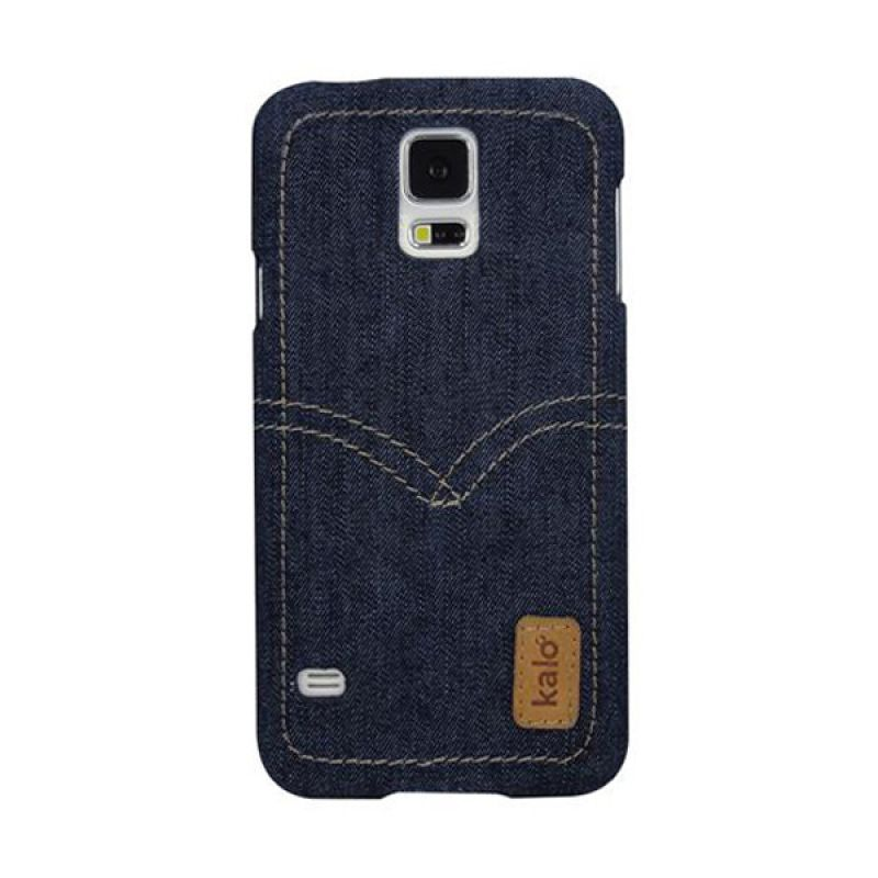 Kalo Denim Biru Tua Casing for Galaxy S5