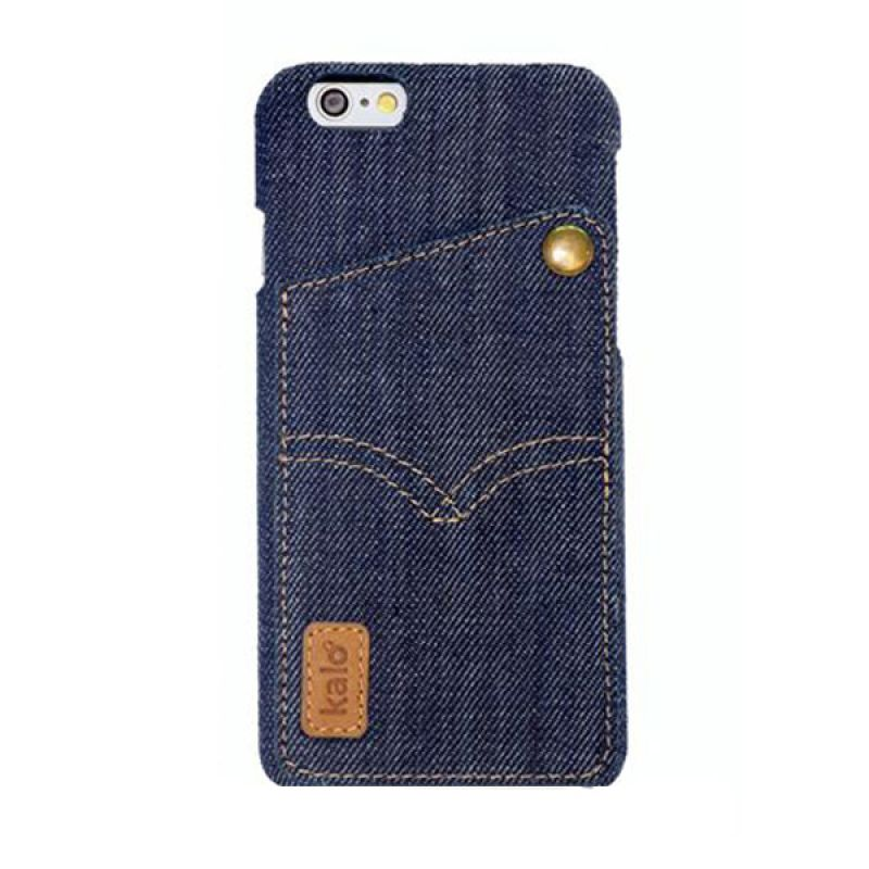 Kalo Denim Biru Tua Casing for iPhone 6