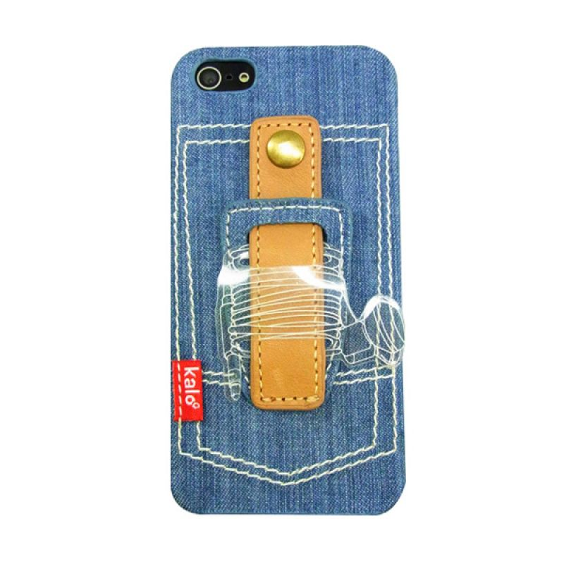 Kalo Denim Winder Biru Muda Casing for iPhone 5 or 5s