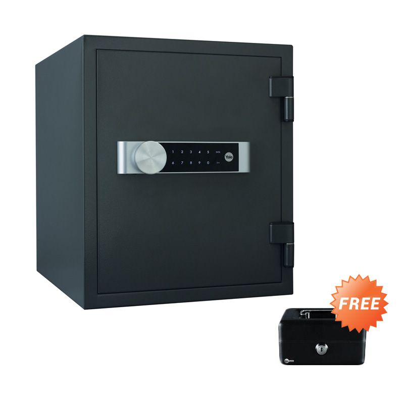 Yale Safe Deposit Box Fire YFM 420 FG2 Brankas + Cash Box Medium