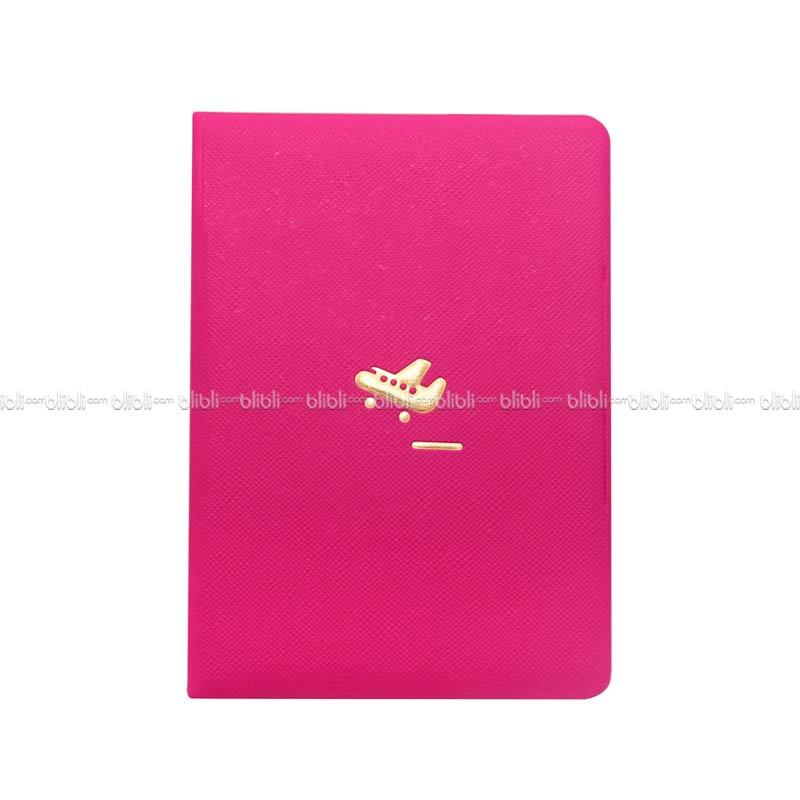 Colorful Korea Passport Cover - Pink Tua