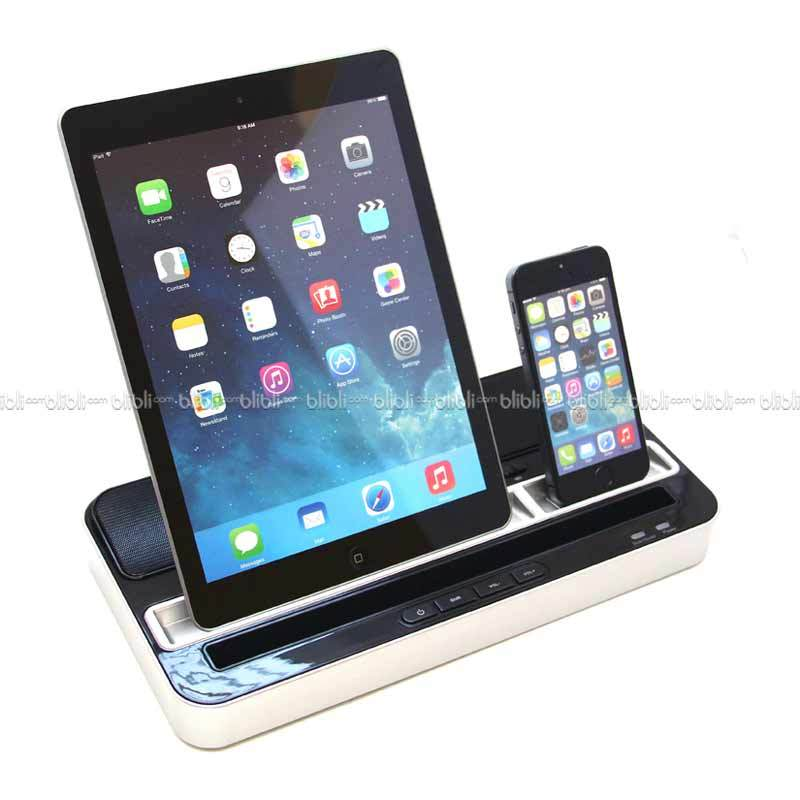 Ipega Charging Stand Dock with Speaker PG-IP115 Hitam Silver