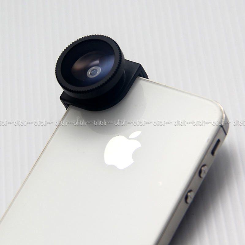 iPhone 4/4s Quarter Head Lens (Macro,Wide,Fish-Eye) Hitam