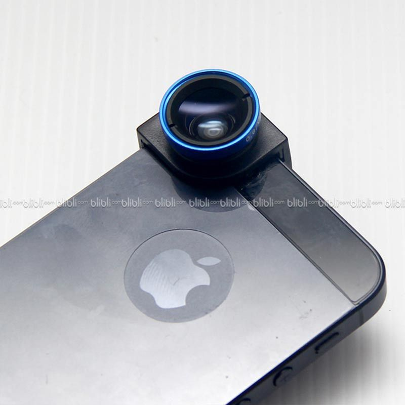 iPhone 5/5s Quarter Head Lens (Macro,Wide,Fish-Eye) Black Blue