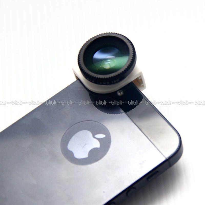 iPhone 5/5s Quarter Head Lens (Macro,Wide,Fish-Eye) White Black