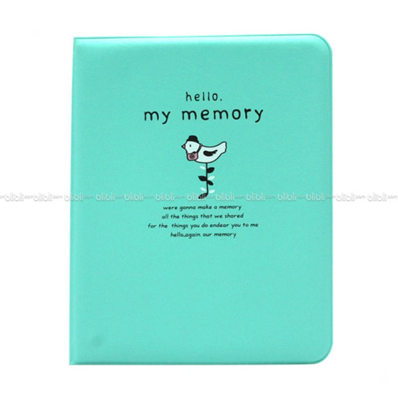 Kamera-Polaroid Hello My Memory Instax Mini Album Hijau
