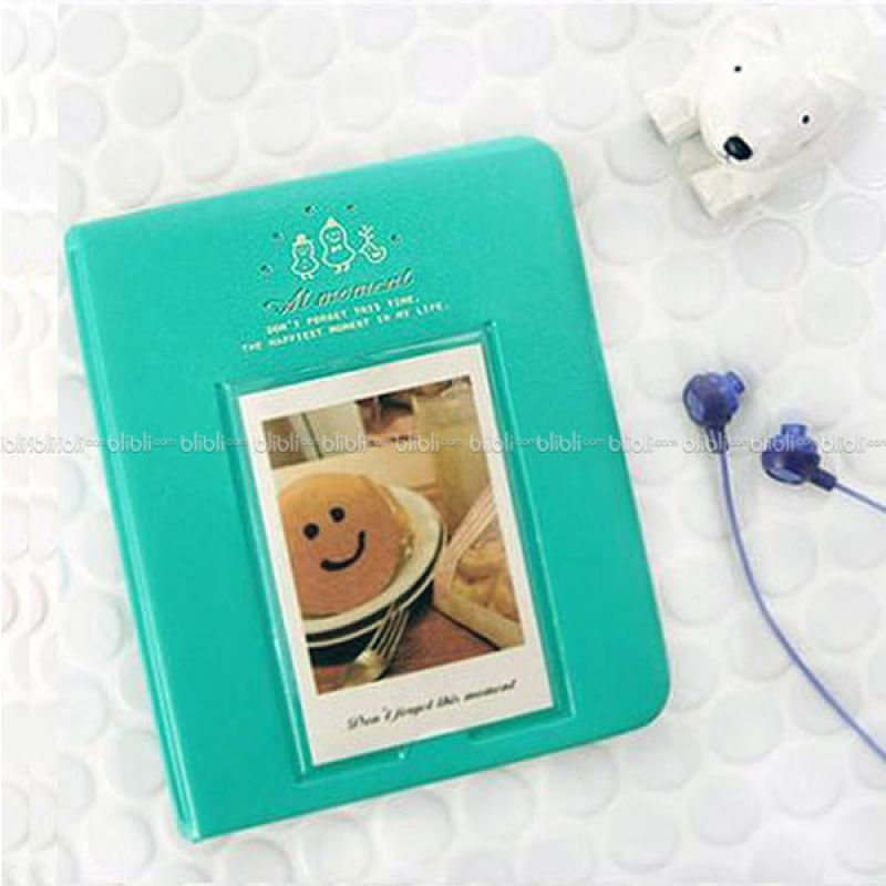Kamera-Polaroid Smiley Cookies Album Hijau Mint