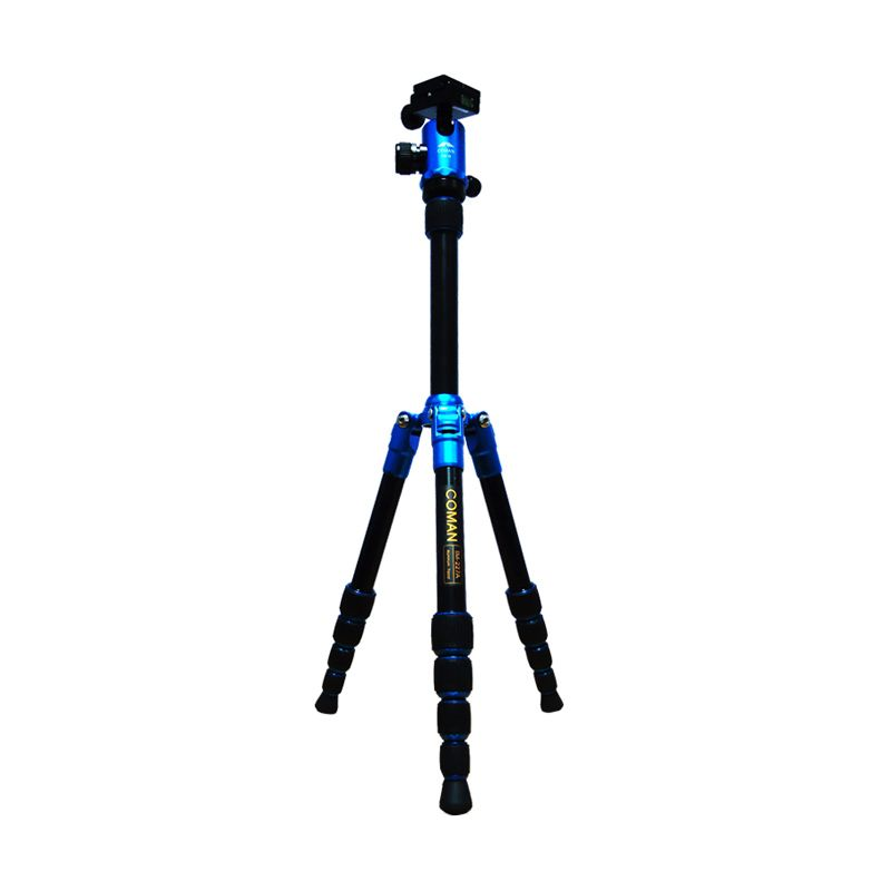 Coman Tripod TM-227A + Ballhead CM-0 Blue