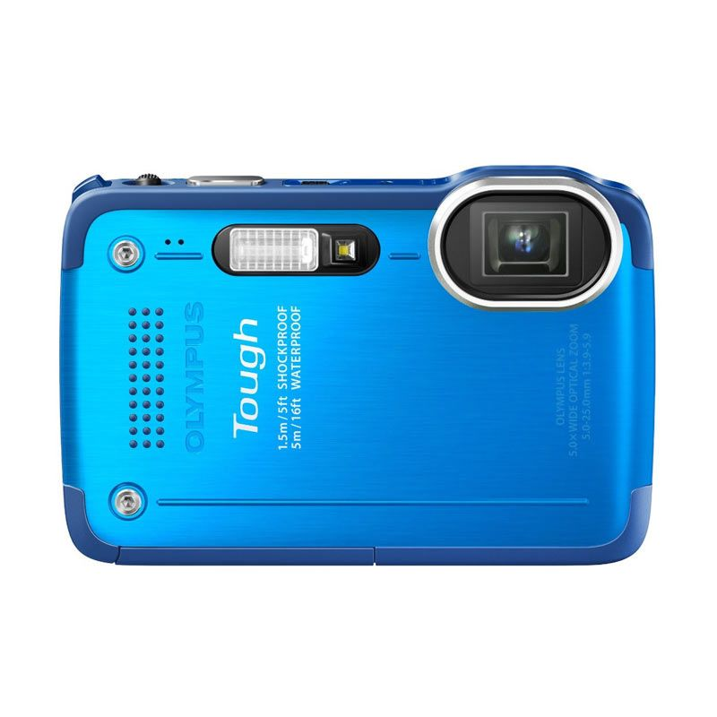 Olympus TG-630 iHS + Memory 8 GB Biru Kamera Pocket