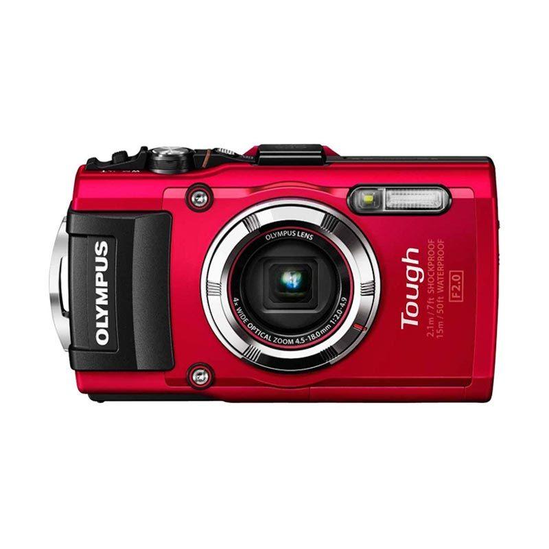 Olympus Tough TG-3 + Memory 8 GB Merah Kamera Pocket