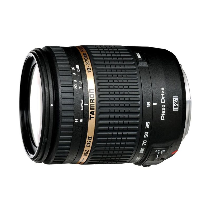 TAMRON 18-270mm F/3.5-6.3 Di II VC PZD Model B008N for NIKON D with Lens Hood (Garansi Resmi Tamron 2 tahun ANA-Photo).