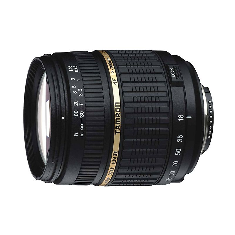 Tamron AF 18-200mm F/3.5-6.3 XR Di II LD Aspherical (IF) Macro Lensa Kamera For Nikon