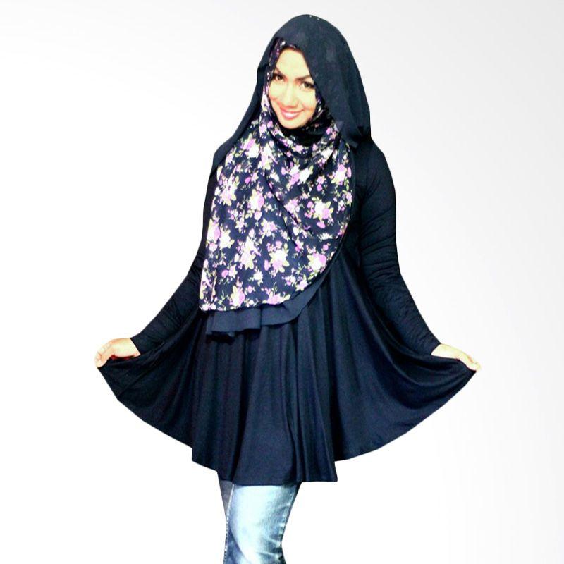Kampung Souvenir Basic Benazir Navy Blue Atasan Wanita