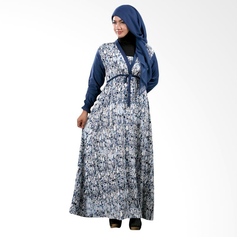 Kampung Souvenir Gamis Atika Biru Dress Muslim
