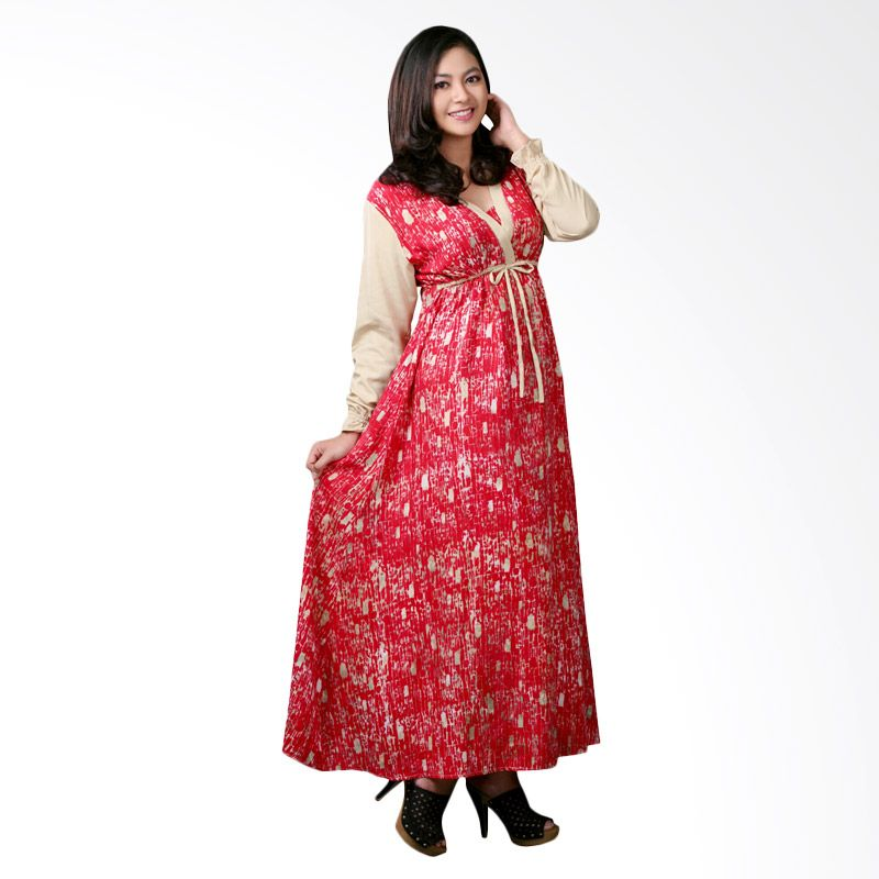 Kampung Souvenir Gamis Atika Red Dress Muslim