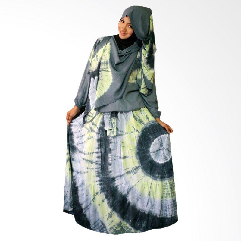 Kampung Souvenir Gamis Sweet Hera Pasmina Gray Dress Muslim