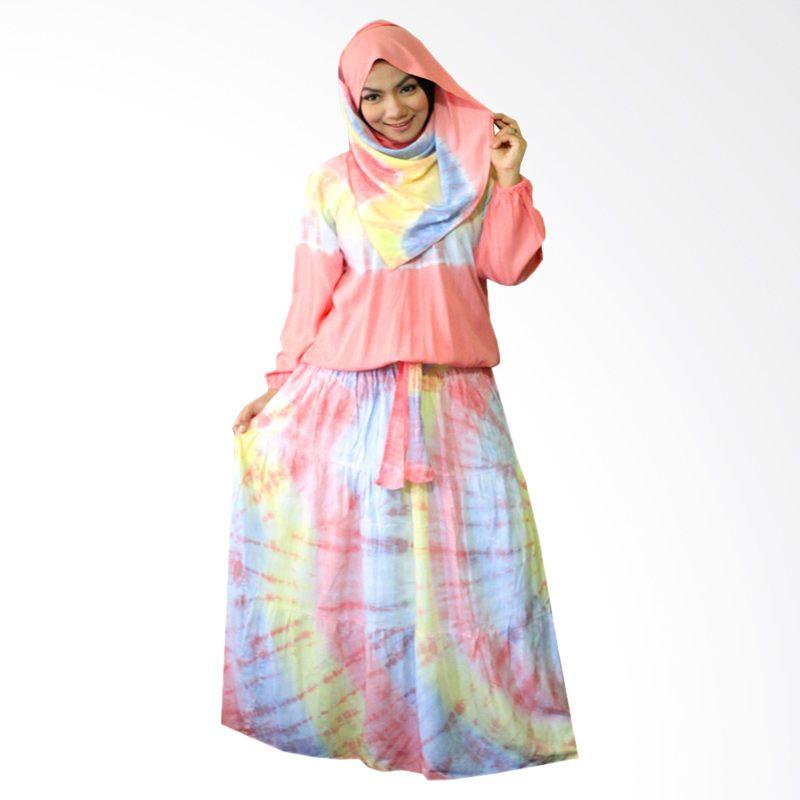 Kampung Souvenir Gamis Sweet Hera Pasmina Peach Dress Muslim