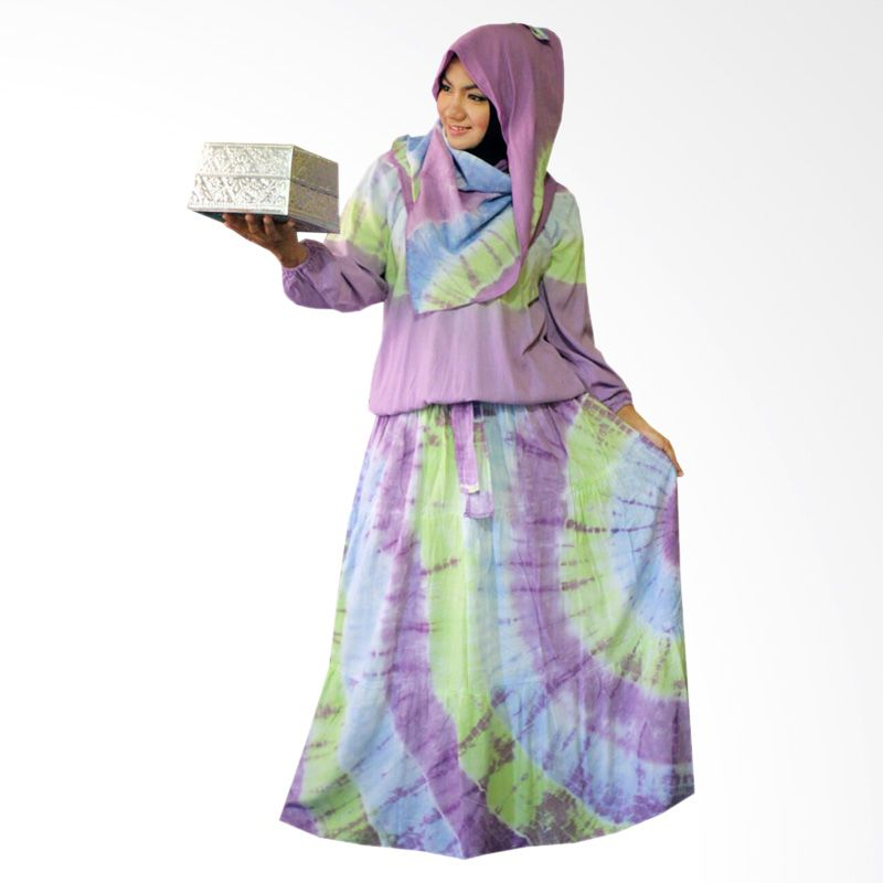 Kampung Souvenir Gamis Sweet Hera Pasmina Purple Dress Muslim