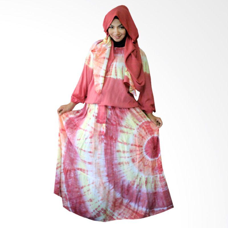 Kampung Souvenir Gamis Sweet Hera Pasmina Red Dress Muslim