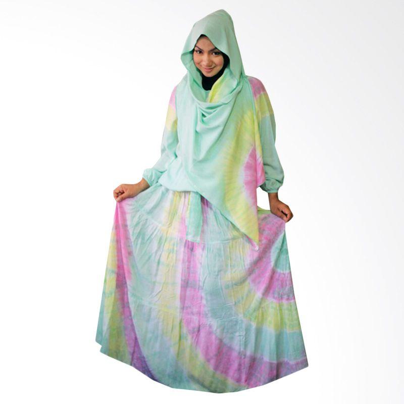 Kampung Souvenir Gamis Sweet hera Pasmina Turquoise Dress Muslim