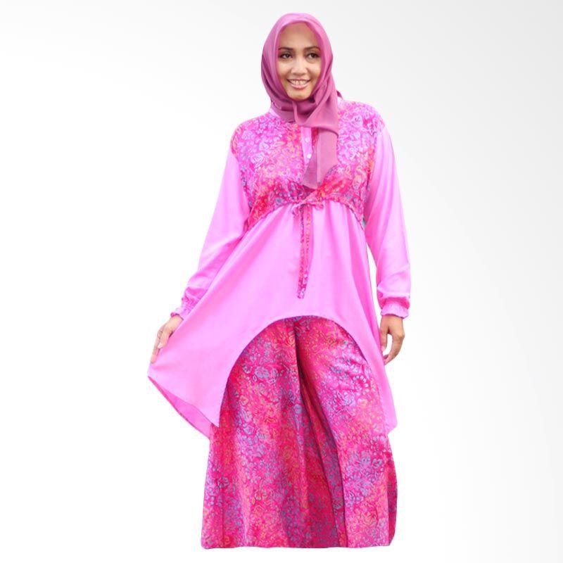 Kampung Souvenir Pink Setelan Tuxedo Kulot