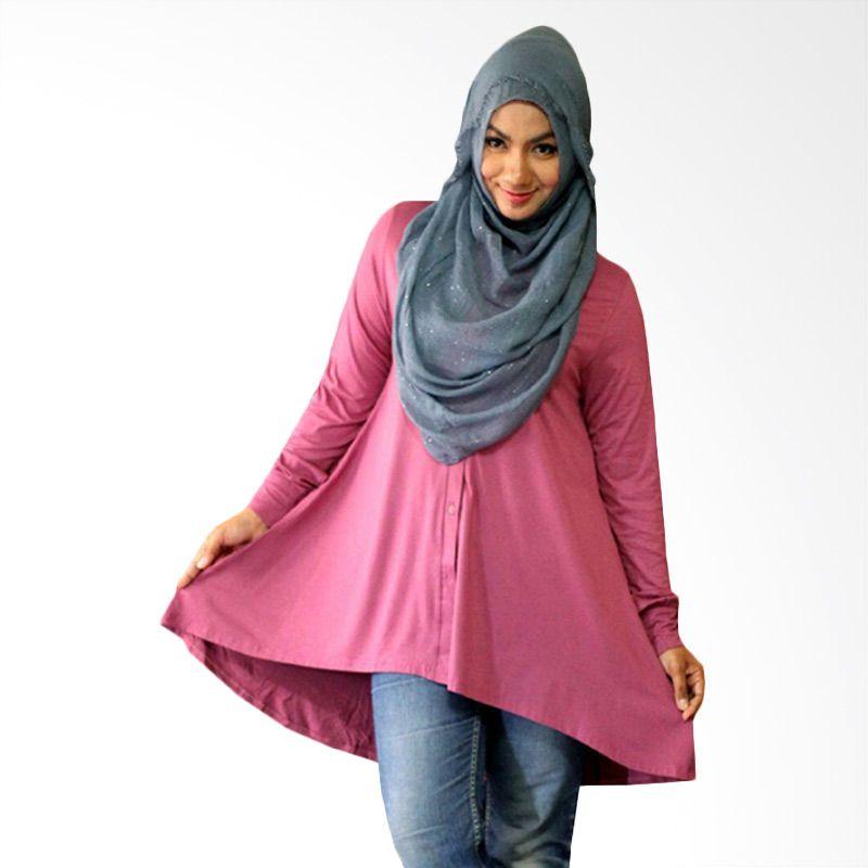 Kampung Souvenir Tuxedo Dasty Pink Atasan Wanita