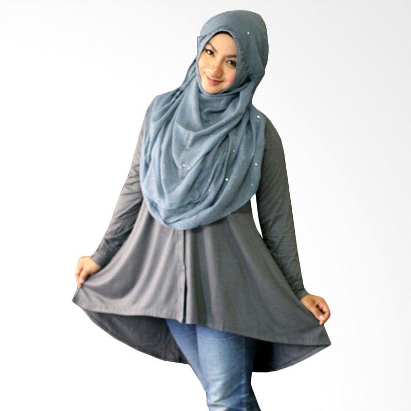 Kampung Souvenir Tuxedo Gray Atasan Wanita