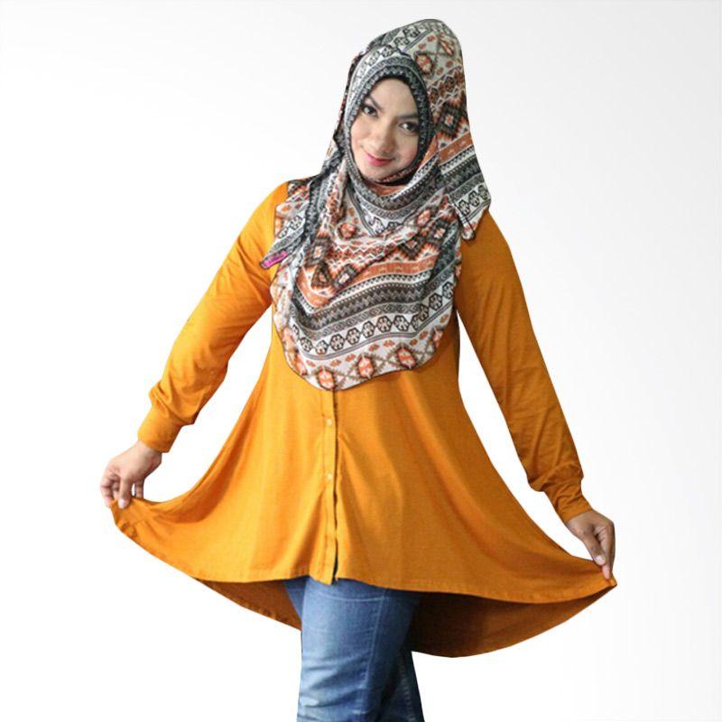 Kampung Souvenir Tuxedo Orange Kunyit Atasan Wanita