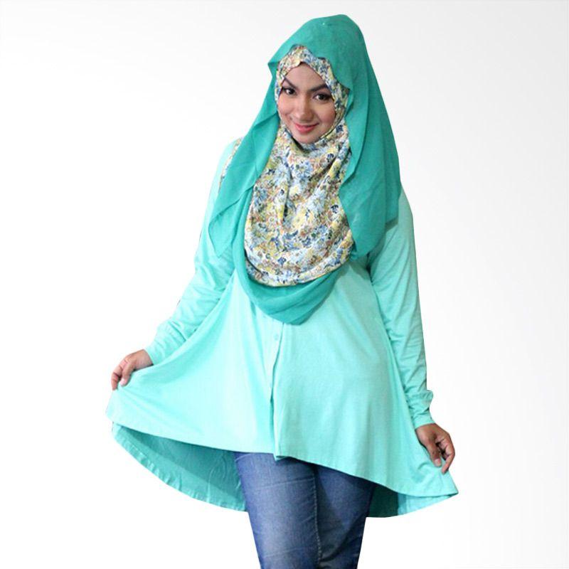 Kampung Souvenir Tuxedo Turquoise Atasan Wanita