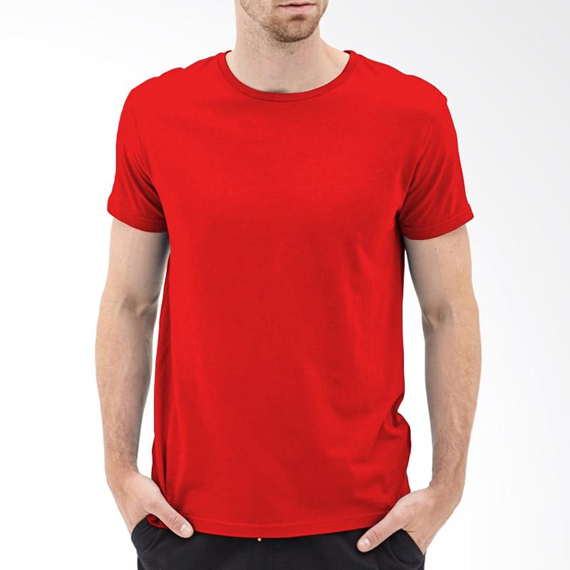 Kaosyes Kaos Polos O-Neck Lengan Pendek T-Shirt - Merah Extra diskon 7% setiap hari Extra diskon 5% setiap hari Citibank – lebih hemat 10%