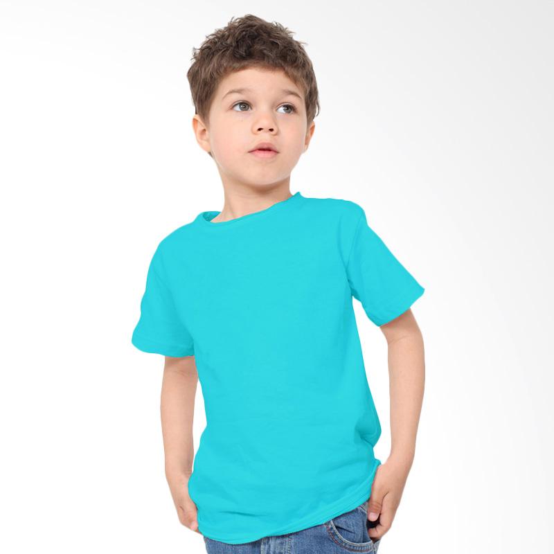 harga KaosYES Kaos Polos T-Shirt Anak - Biru Muda Blibli.com