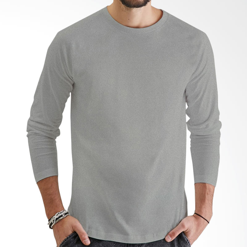 KaosYES Kaos Polos T-Shirt O-Neck Lengan Panjang - Abu Misty Extra diskon 7% setiap hari Extra diskon 5% setiap hari Citibank – lebih hemat 10%