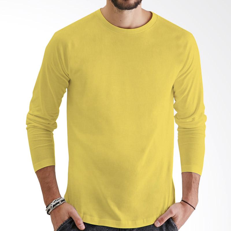 KaosYES Kaos Polos T-Shirt O-Neck Lengan Panjang - Kuning Extra diskon 7% setiap hari Extra diskon 5% setiap hari Citibank – lebih hemat 10%