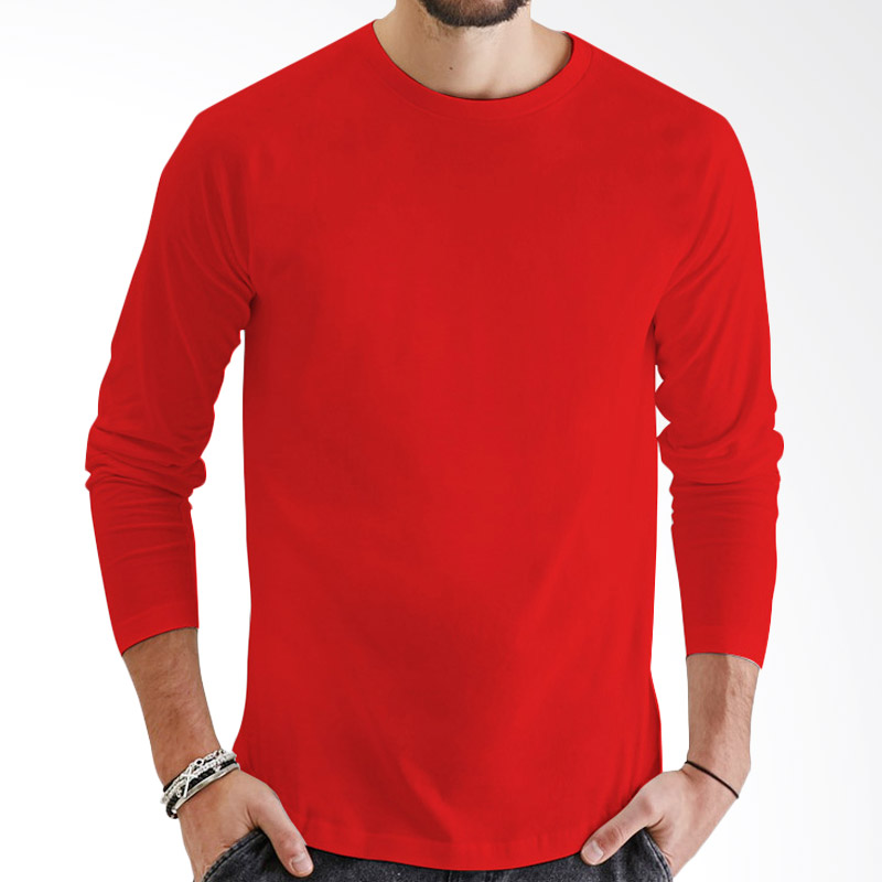 KaosYES Kaos Polos T-Shirt O-Neck Lengan Panjang - Merah Extra diskon 7% setiap hari Extra diskon 5% setiap hari Citibank – lebih hemat 10%