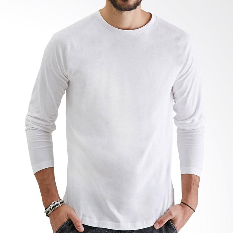 KaosYES Kaos Polos T-Shirt O-Neck Lengan Panjang - Putih Extra diskon 7% setiap hari Extra diskon 5% setiap hari Citibank – lebih hemat 10%