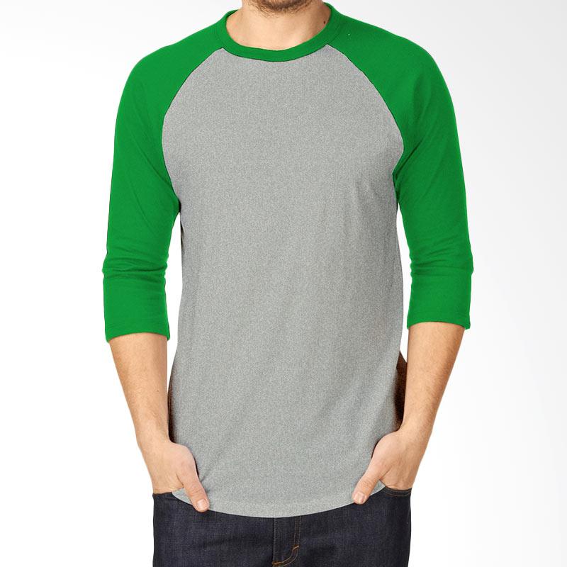 Kaosyes Kaos Polos T-Shirt Raglan Lengan 3/4 - Abu-Hijau Extra diskon 7% setiap hari Extra diskon 5% setiap hari Citibank – lebih hemat 10%