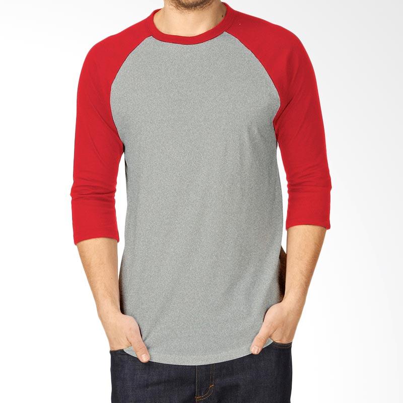 KaosYES Kaos Polos T-Shirt RAGLAN Lengan 3/4 Abu-Merah Extra diskon 7% setiap hari Extra diskon 5% setiap hari Citibank – lebih hemat 10%