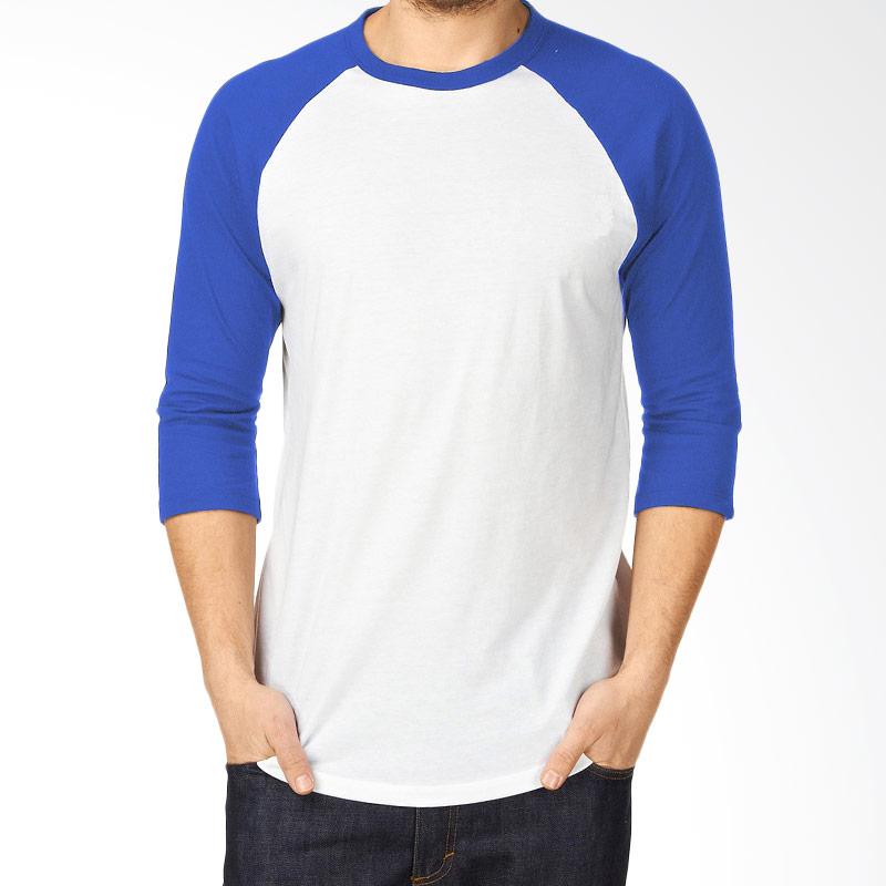 KaosYES Kaos Polos T-Shirt RAGLAN Lengan 3/4 Putih-Biru Extra diskon 7% setiap hari Extra diskon 5% setiap hari Citibank – lebih hemat 10%
