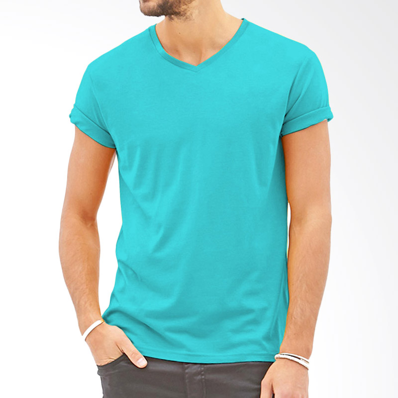 KaosYES Polos V-Neck Kaos Pria - Biru Muda Extra diskon 7% setiap hari Extra diskon 5% setiap hari Citibank – lebih hemat 10%