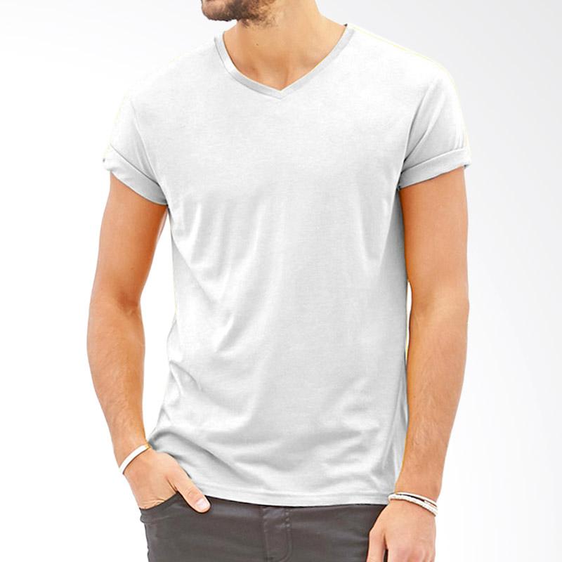 KaosYES Polos V-Neck Kaos Pria - Putih Extra diskon 7% setiap hari Extra diskon 5% setiap hari Citibank – lebih hemat 10%